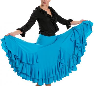Flamenco Dance Skirt Triana FL Blue