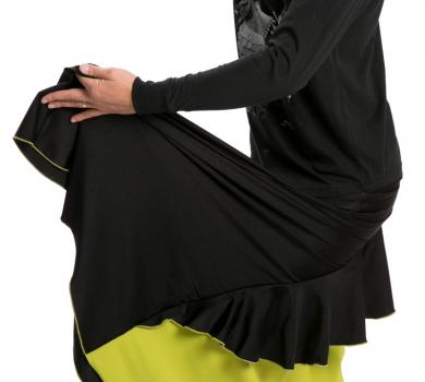 Flamenco Dance Skirt Lime Green